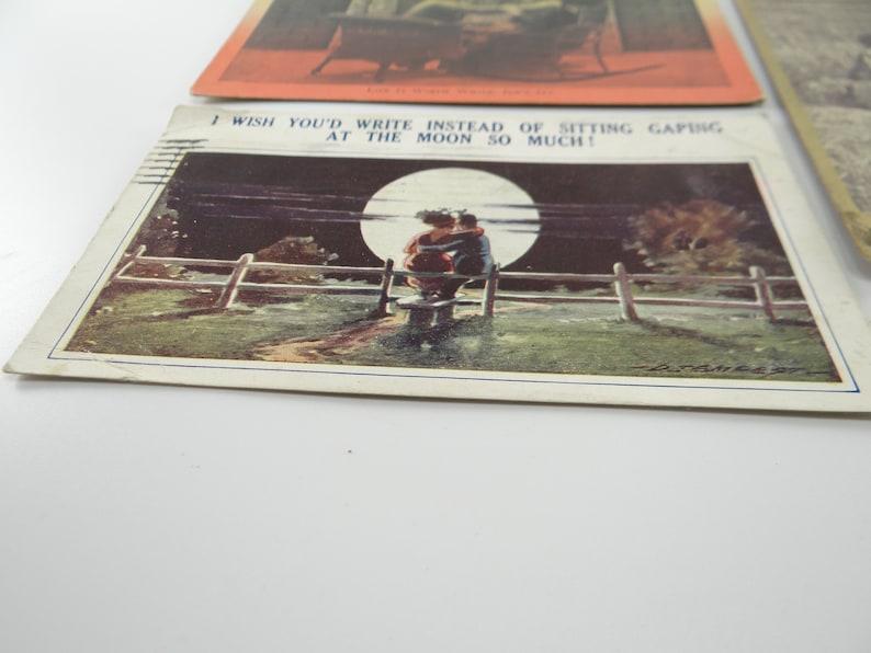 Life is worth while Vintage Moon Postcard Vintage 1930s Postcards Devotion postcard