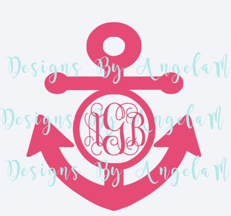 Svg Anchor Monogram Initials Svg Digital Cutting File Etsy