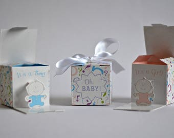Baby Gender Reveal Box
