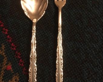 1847 Rogers Bros International Silver Golden Centennial Silverplate Pickle Fork