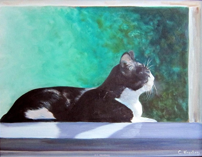 Pet portraits custom oil painting on canvas of your cat dog image 0