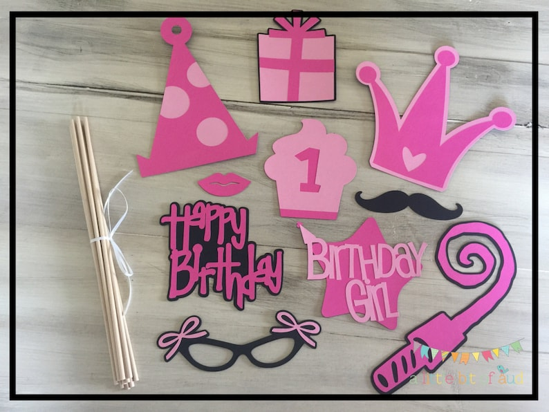 Party Props Birthday Party Decorations Kids Party Games Etsy