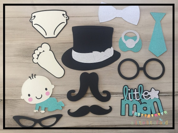 Baby Boy Shower Decorations Little Man Baby Shower Baby Etsy