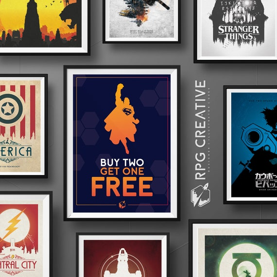 Buy Any 2 Get 1 FREE - Special Offer : All Posters Included  Movie Posters,  Marvel, DC Comics, Illustration, Digital Print, Video Game Art