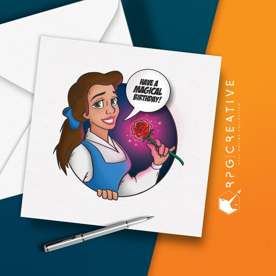 Belle Beauty Disney BIRTHDAY CARD Greeting Cards