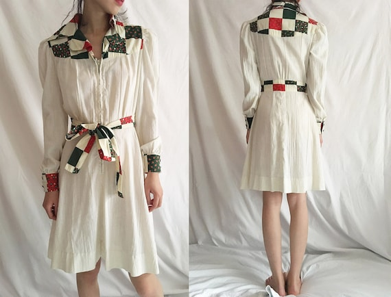 Ranch Life 70s Prairie Dress Vintage Country Weste