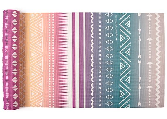 Tapis De Mira Flores Yoga Yoga Imprime Tribal Tapis Dyoga Etsy