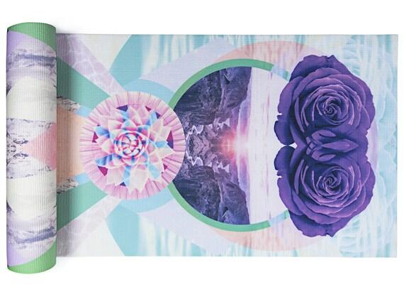 Rose Vision Tapis Yoga Yoga Imprime Yoga Mat Rose Mat Etsy