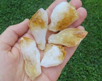 "Raw Citrine Point 1.5"" -  Citrine Crystal Point - Heat Treated  Citrine Stone - November Birthstone"