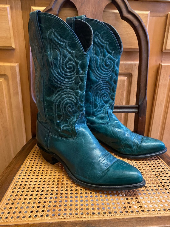 Capezio green Leather western boots sz 10