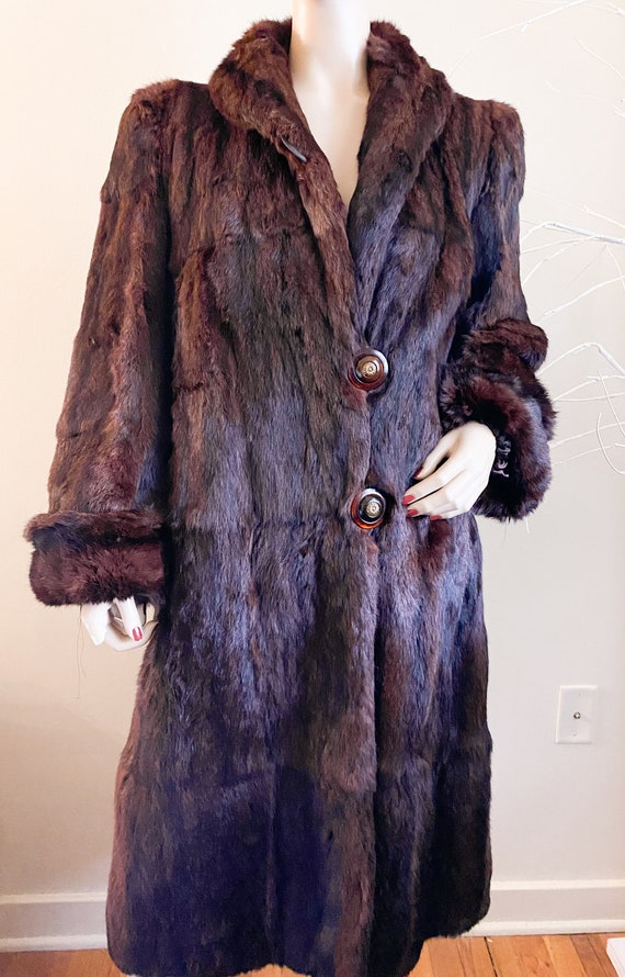 Vintage 50's Mink Fur Coat S