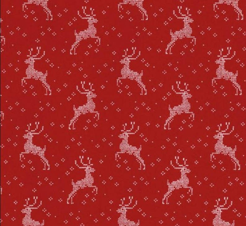 by 1//2 yard MODA Fabric ~ NORDIC STITCHES ~ by Wenche Wolffhatling 39712 12