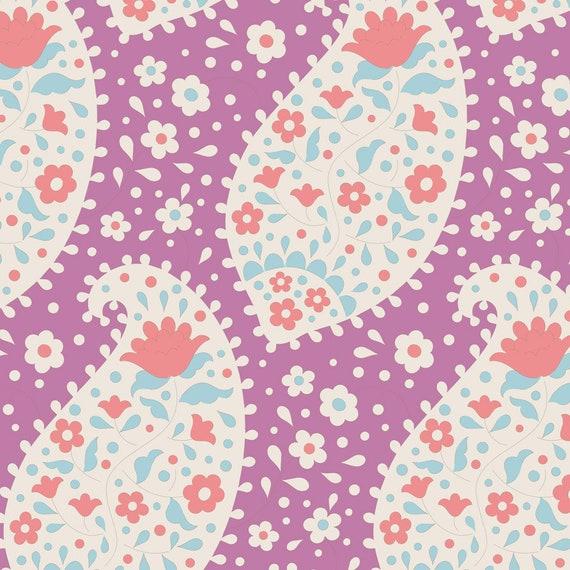 PLUM GARDEN by Tilda Fabrics Tone Finnanger TIL100186-12 yard continuous cuts Teardrop Nutmeg