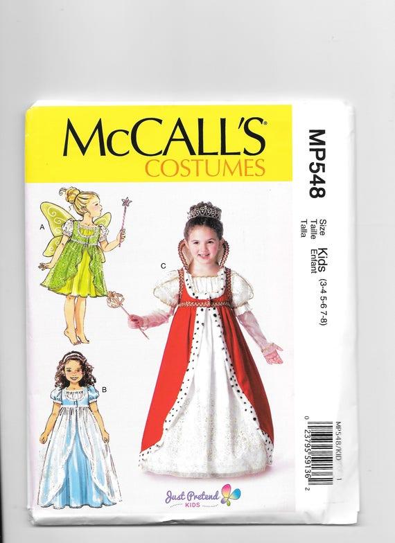 Kinder McCall Kostüme M 7212 Mädchen Kostüme Schnittmuster | Etsy