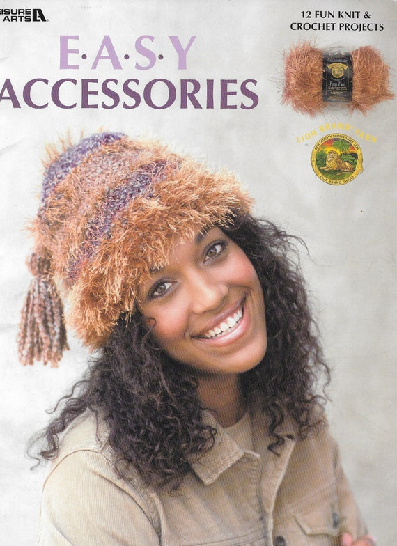 Easy Acessories Leisure Arts 3522 12 Fun Fur Knit And Etsy