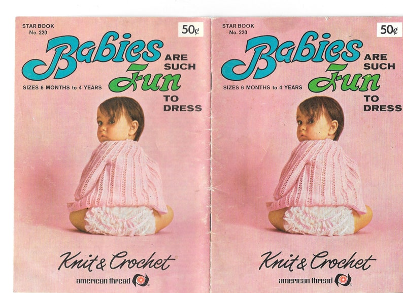 Star Book No 220 Crochet And Knit Infant Patterns Size 6 Mo Etsy