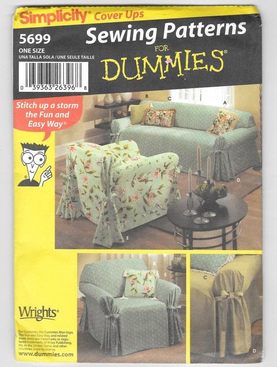Patrones de costura para Dummies simplicidad 5699 sofá y   Etsy