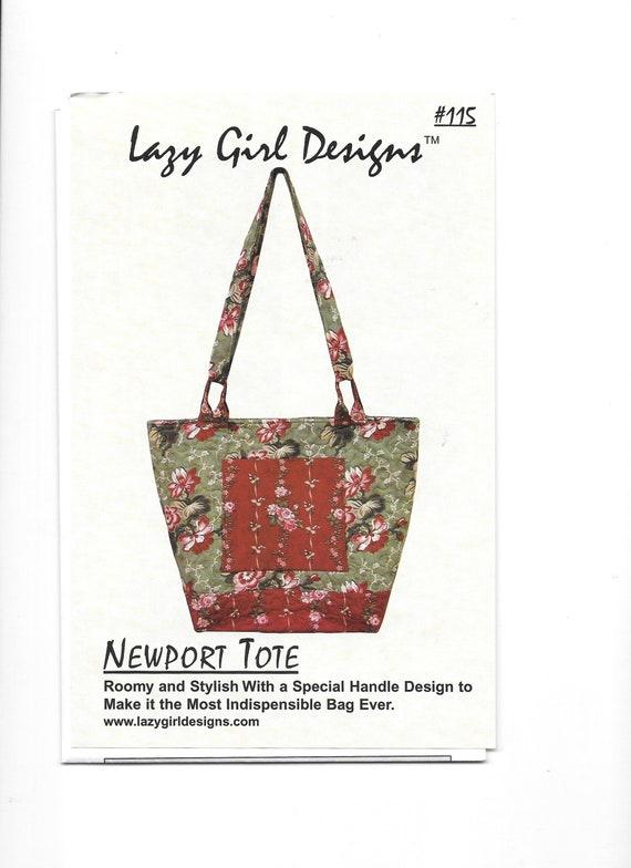 Newport Tote Lazy Girl Designs 115 Handbag Sewing Pattern | Etsy