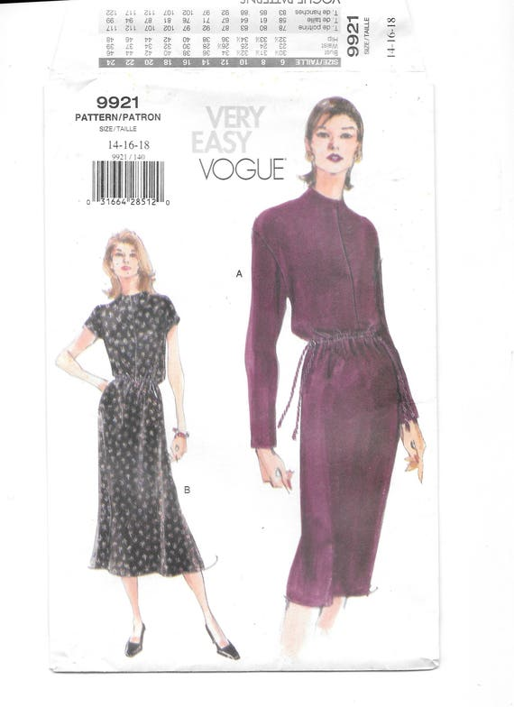 Vogue Very Easy Sewing Pattern 8993 Petite Dress Sizes 8-10-12-14-16