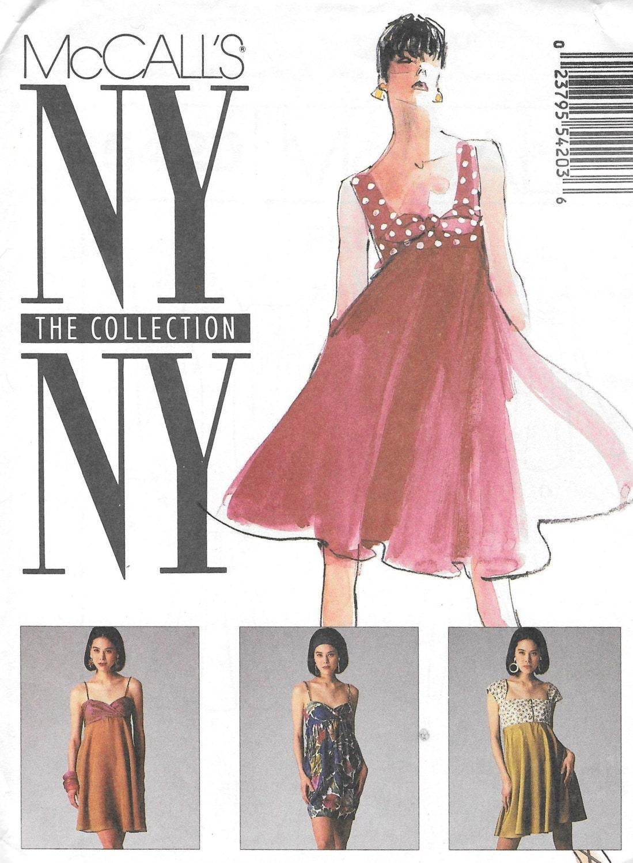 5420 patrón, vestido del Mini vestido, manga corta, vestido talle ...