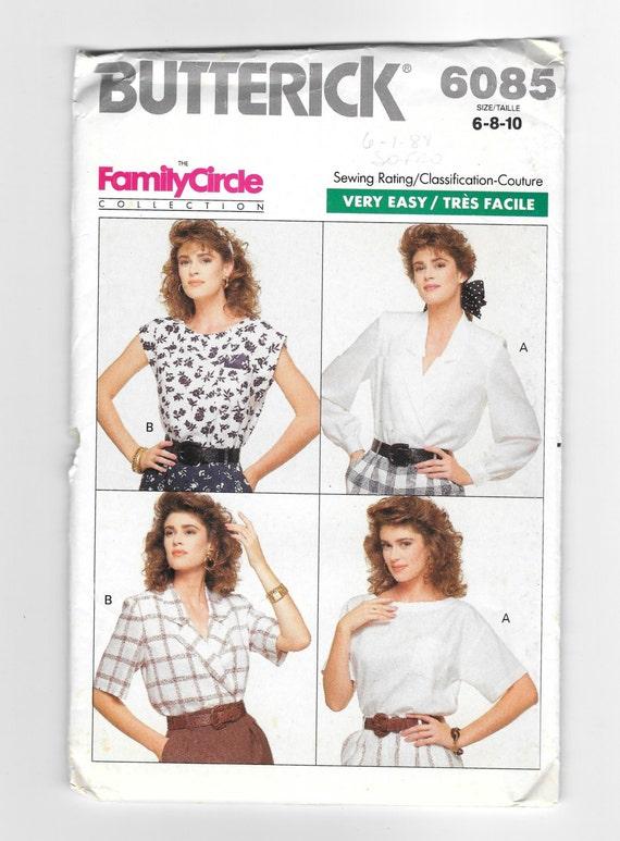 Women\'s Blouse Pattern Very Easy Pattern Butterick 6085 | Etsy