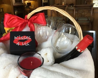Kisses 4 Us® Making Kissing Fun! Quarantine Gift Basket Stuffer for Men- Basket Stuffer for Him-Basket Stuffer for Women-Stuffer for Her