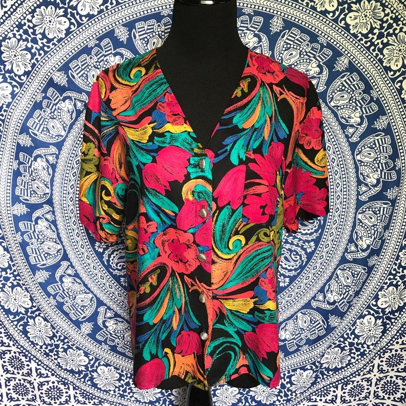 Floral Explosion Box Jacket SIZE LARGE