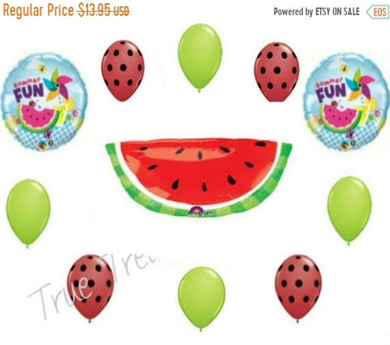 ON SALE WATERMELON Summer Fun Balloons Bouquet Fair Cookout barbecue Summer Picnic yard pool Party Birthday Balloon