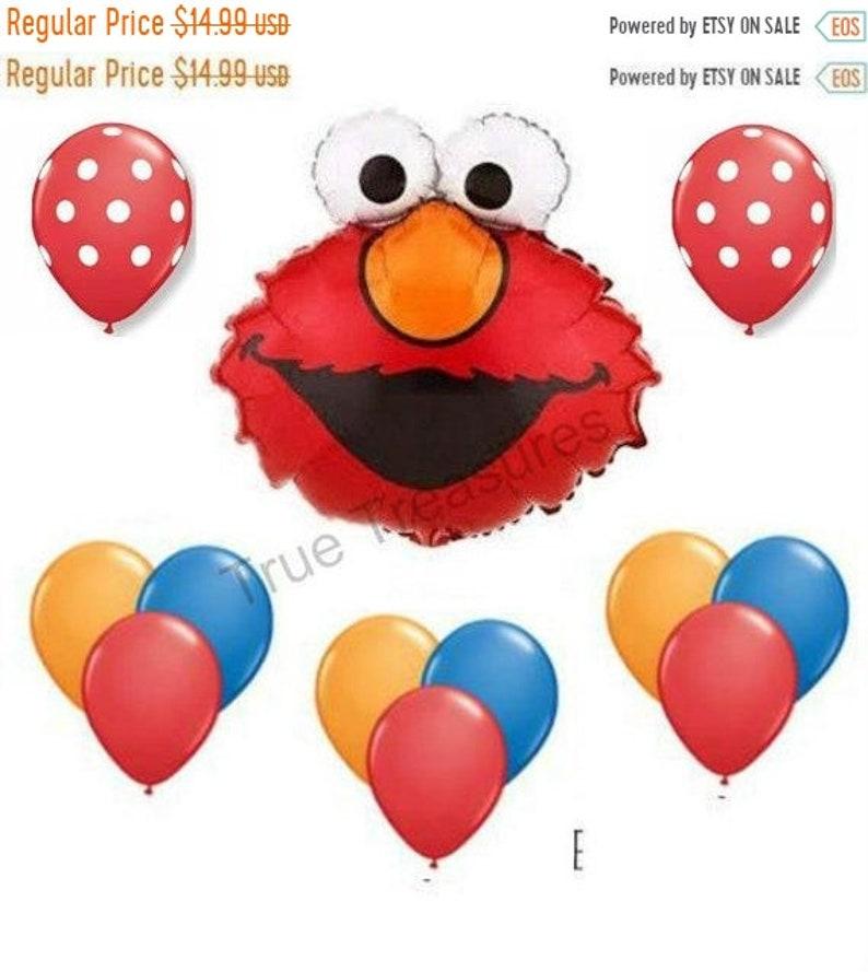 ON SALE Elmo 12 PC Elmo Balloon Bouquet Kit Balloons birthday party supplies shower sesame street