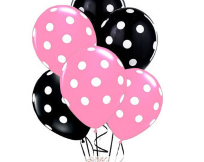"10 pc 11/"" Qualatex Big Polka Dot Rose Gold Latex Balloon Party Decoration Pink"