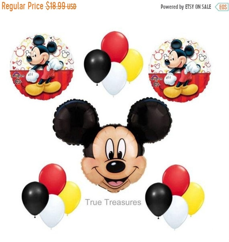 "10 x Mickey Mouse Head//Ears Shaped 15/"" Qualatex Latex Balloons"