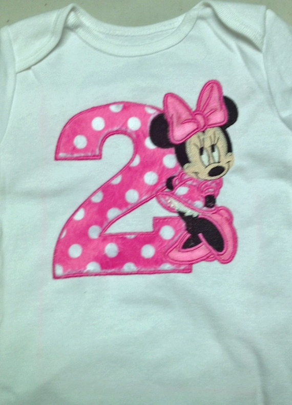 Pink Minnie Mouse 2nd Birthday Shirt