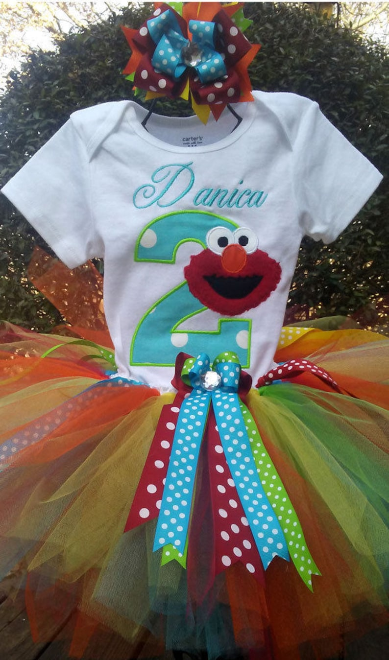 Elmo 2nd Birthday Outfit Shirt