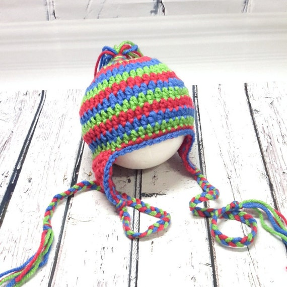 9d477a42194 Bonnet enfant tuque au crochet tuque cache-oreilles chapeau