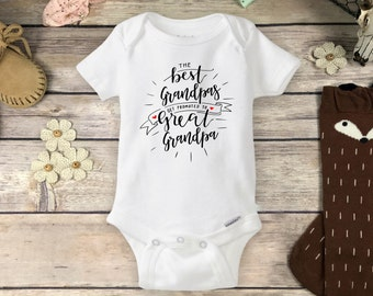 Pregnancy Reveal to Grandfather Onesies® Brand or Carter's® Bodysuit New Baby Announcement Only the Best Grandpas get Promoted Great Grandpa