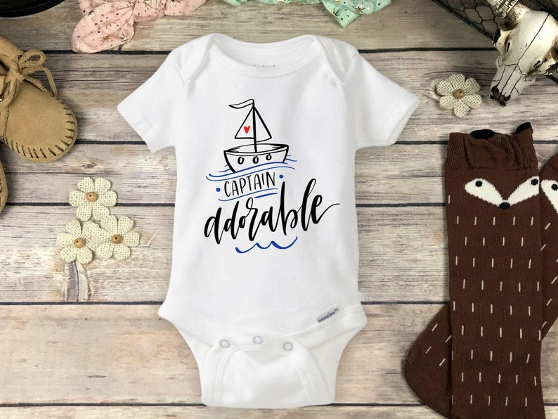 757f06fc0c17 Nautical Baby Onesie Brand or Carters Bodysuit Sailor Onesies