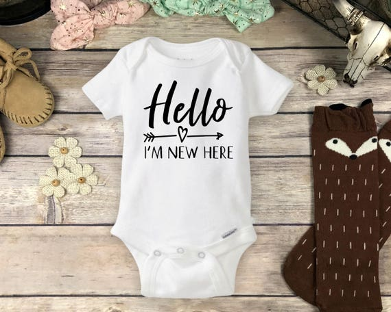 2a2fa70c9 Hello I'm New Here Onesies® Brand or Carter's® | Etsy