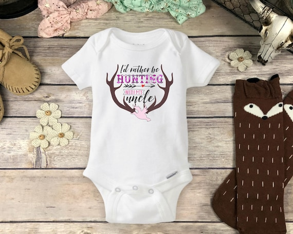 4ff6b9b61 Hunting Uncle Onesie Brand Bodysuit Pregnancy Reveal | Etsy