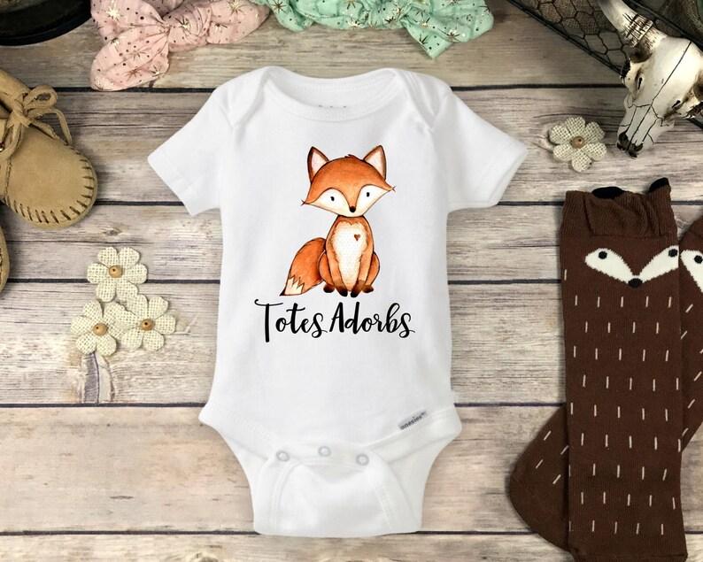 6f1e00046 Baby Fox Onesies® Brand or Carter's® Bodysuit or Infant | Etsy