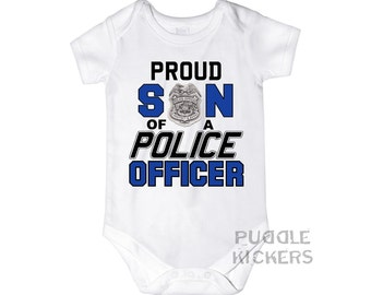 Proud Son of a Police Officer Onesie ® - Police Officer Baby Gift for Baby Boy