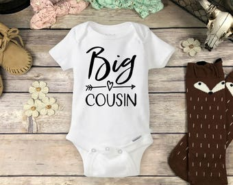 Big Cousin Onesies® Brand or Carter's® Bodysuit, or Tee Shirt Personalized Big or Lil Little Cousin Pregnancy Announcement New Baby Reveal