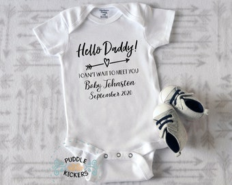 Daddy Announcement Onesie®, Pregnancy Reveal to Husband, Preggers Onsies for Daddy Pregnancy Announcement, New Dad Onesie Daddy to Be Onesie