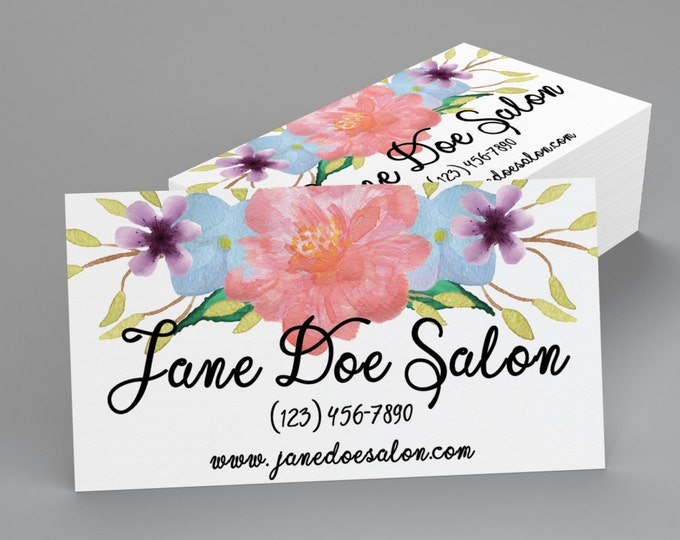 Custom Professional Business Cards - Soft Floral Business Card