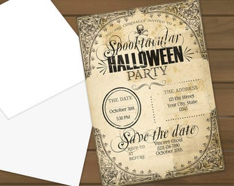Halloween Party Invitations - Spooktacular Halloween Party