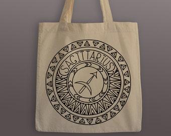 Sagittarius Zodiac Tote Bag