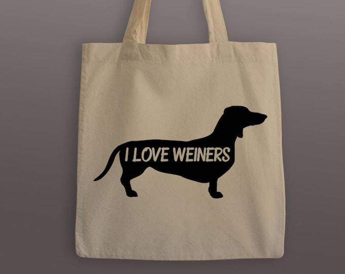 I Love Weiners Tote Bag