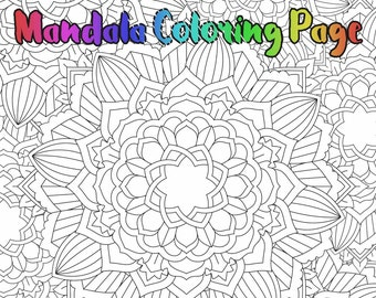 Mandala Coloring Page - Printable Coloring Pages - 03