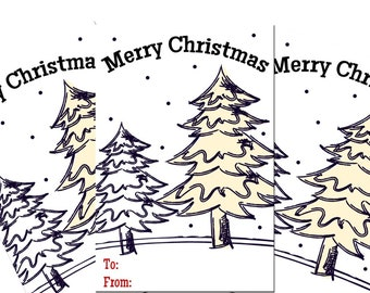 Christmas Tree Printable Gifts Tags
