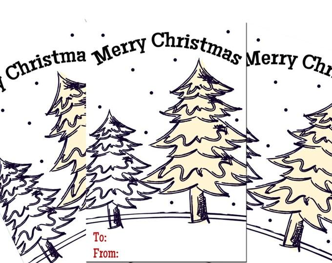 Christmas Tree Printable Gifts Tags