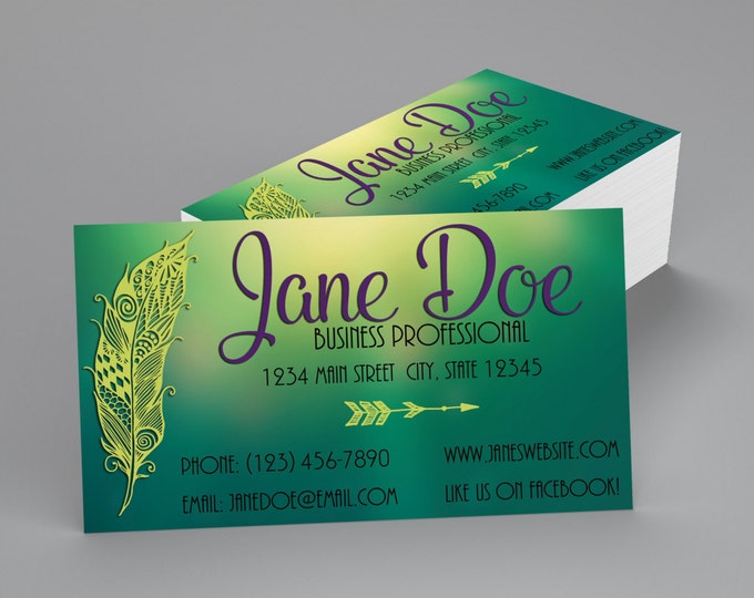 Custom Professional Business Cards - Feather Business Card